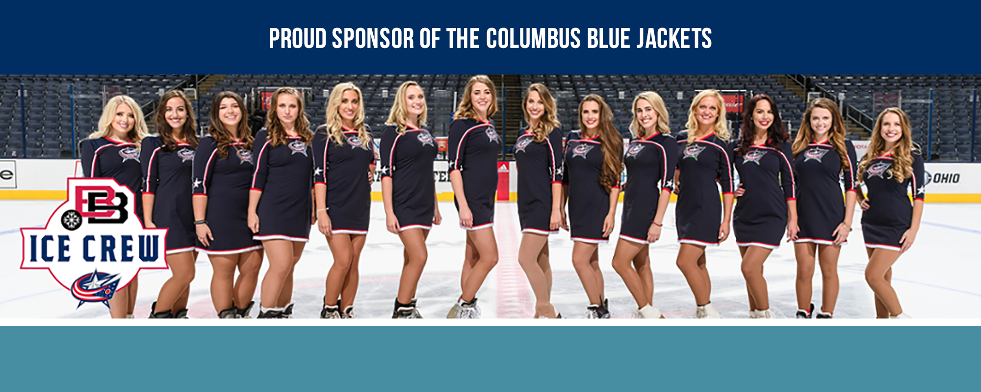 Proud sponsor of the columbus bluejackets banner